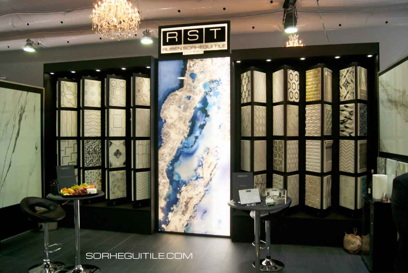Ruben Sorhegui Tile Distributors Booth at the 2019 Luxury Home Show