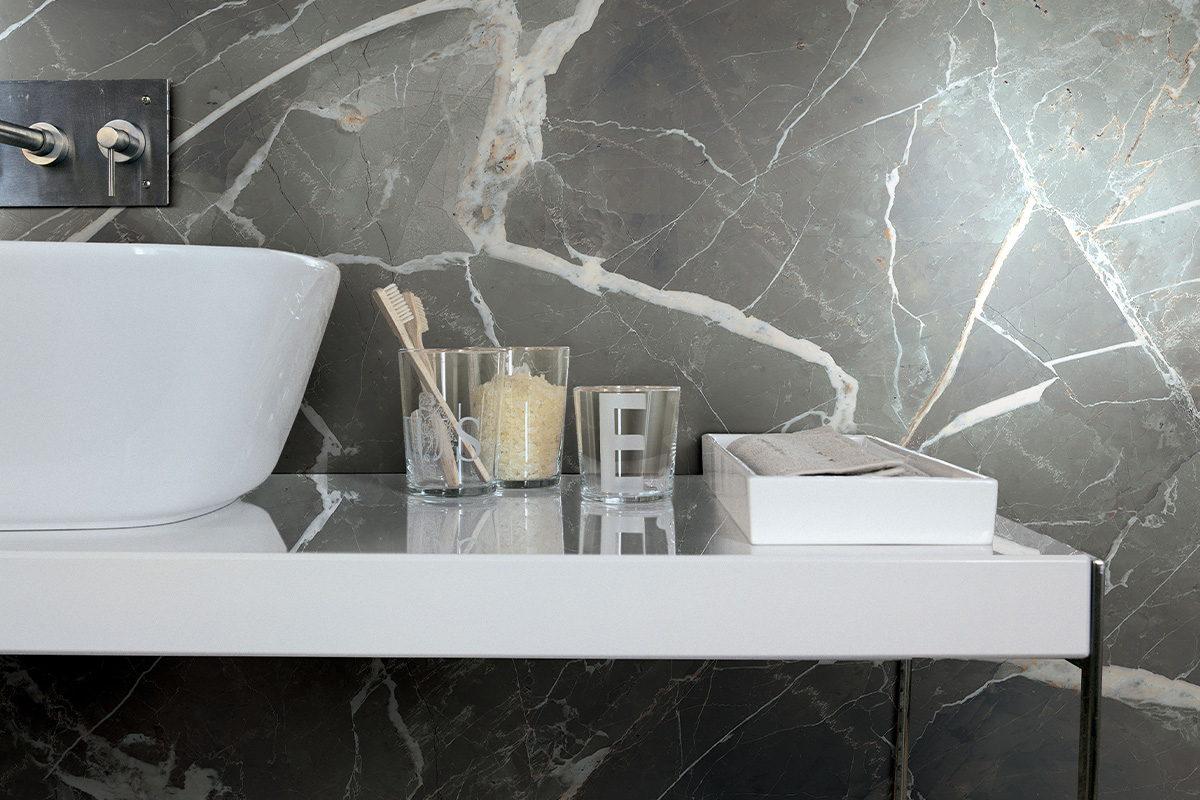 496 Marble Look Porcelain Slab available at Ruben Sorhegui Tile Distributors Southwest Florida's largest tile, stone and mosaics distributor