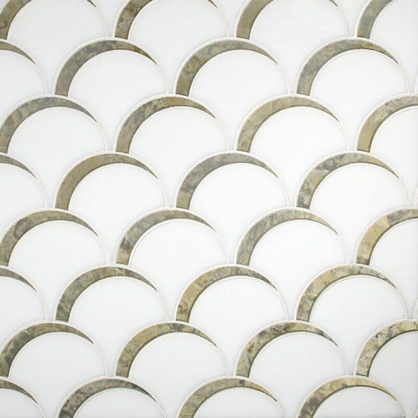 Devotion Scallop Pattern Glass Tile