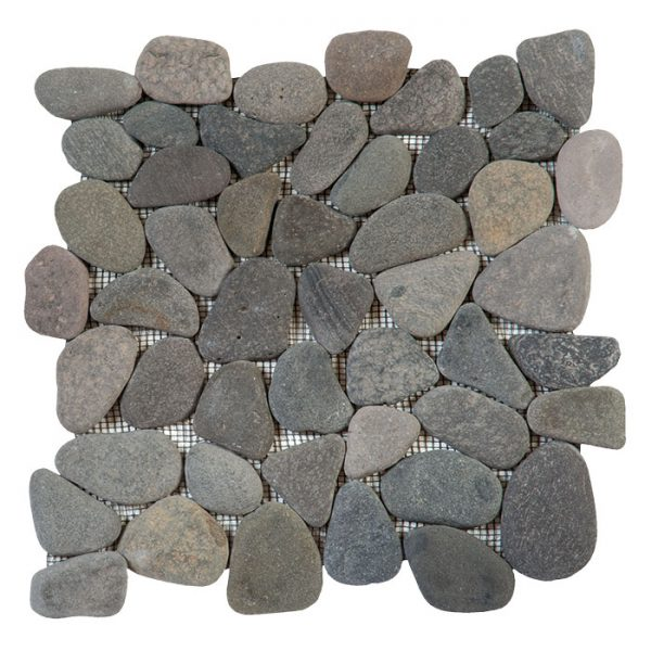 Grey Rectified Pebble Mosaic