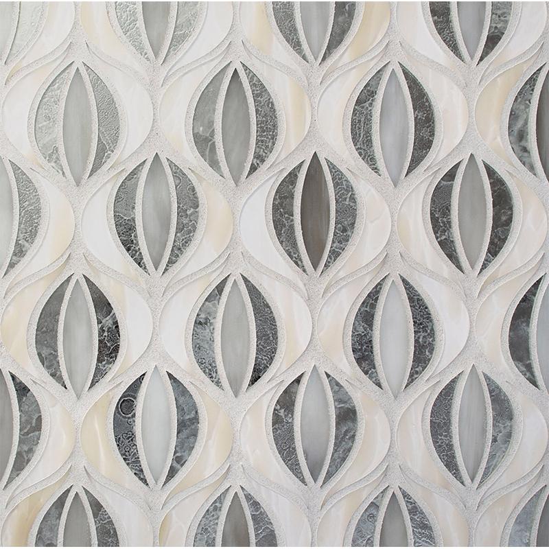 Devotion Lotus Pattern Glass Tile