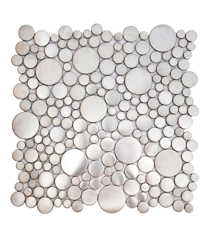 Stainless Steal Round Mosaic from Bati Orient