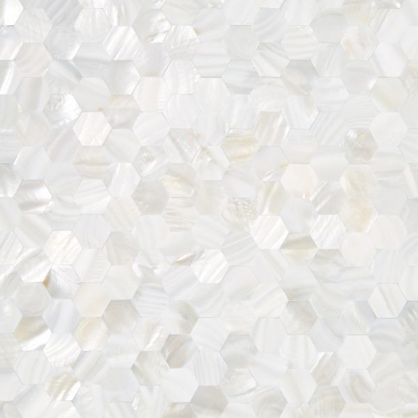 Bianco Hexagon Mother of Pearl