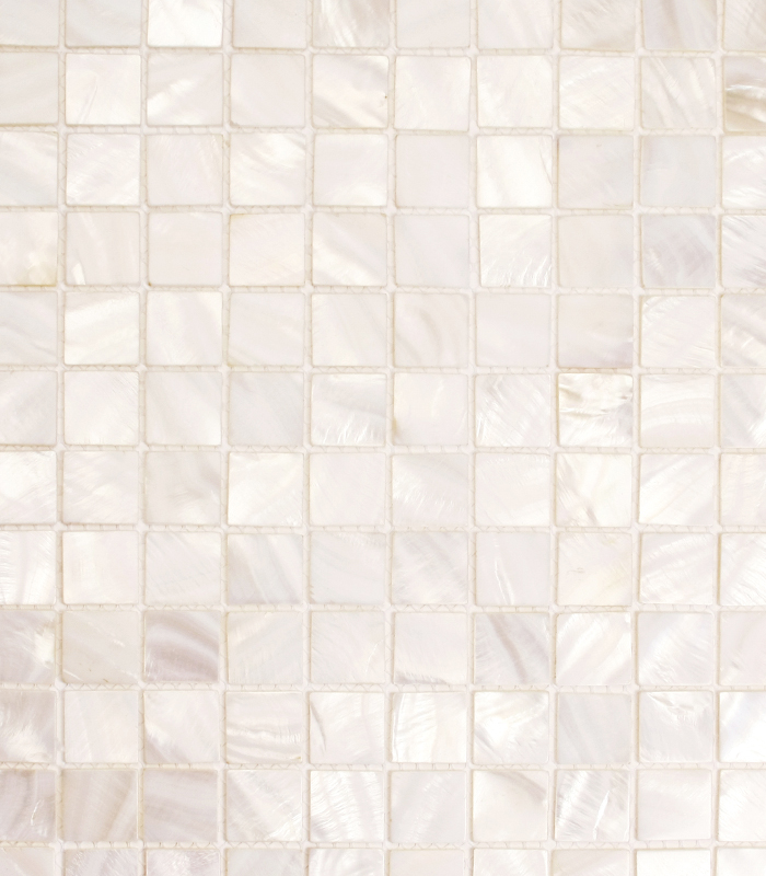 Bianco Mother of Pearl Mosaic from Siminetti available at Ruben Sorhegui Tile Distributors Southwest Florida's largest tile, stone and mosaics distributor