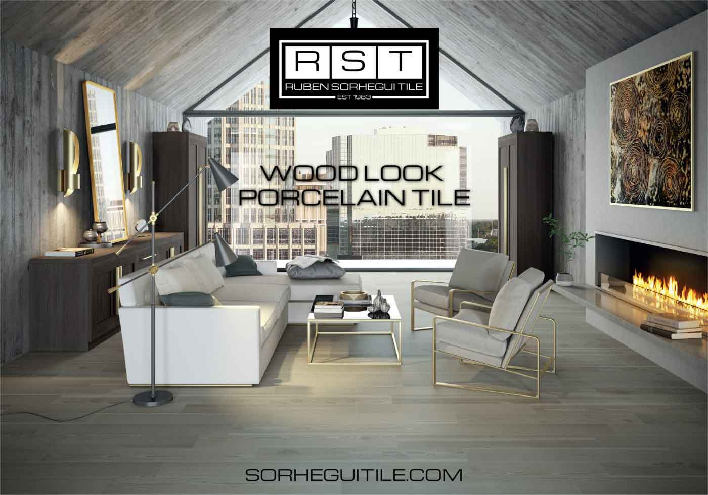 City home with wood porcelain tile from Ruben Sorhegui Tile Distributors | Southwest Florida Stone, Tile and Marble Distributor