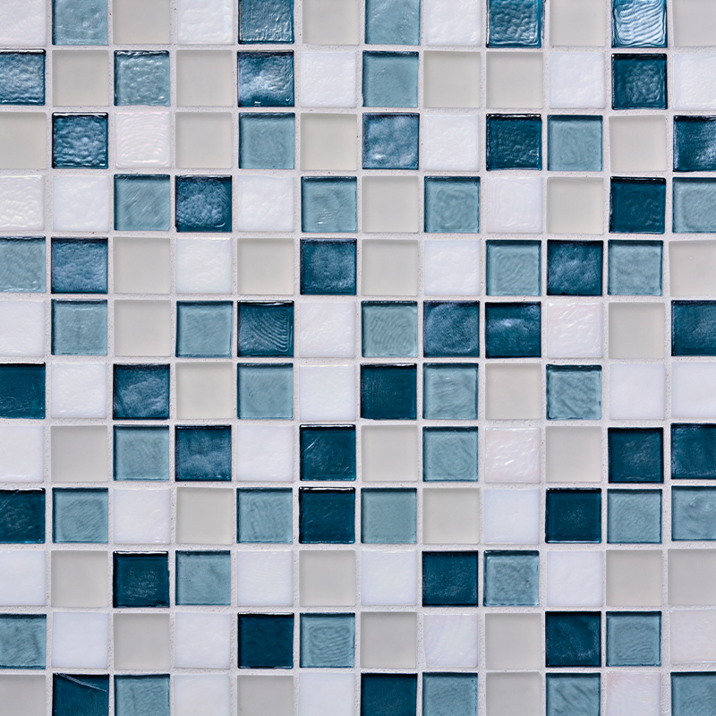 Cool Waters Blend Glass Mosaic