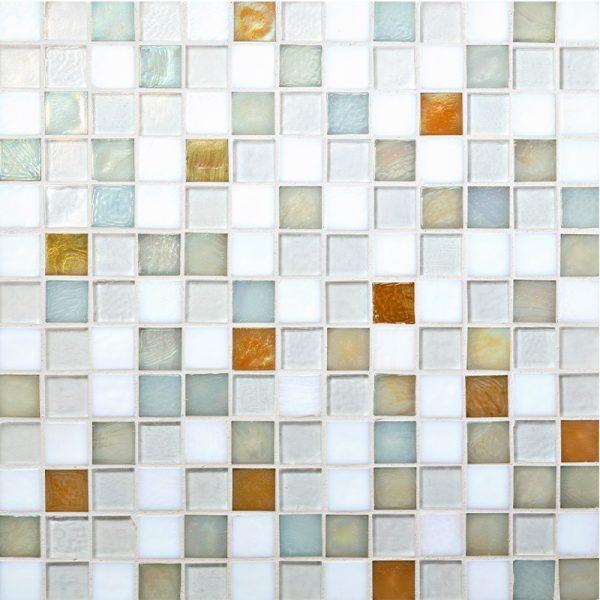 Creme Brulee Blend Glass Mosaic
