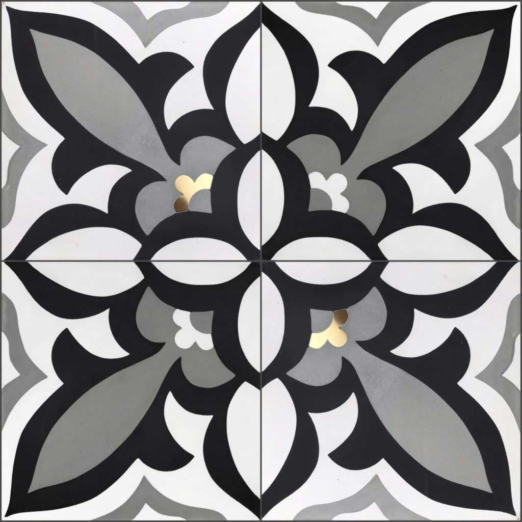Dalia Elite Cement Tiles available at Ruben Sorhegui Tile Distributors Southwest Florida's largest tile, stone and mosaics distributor