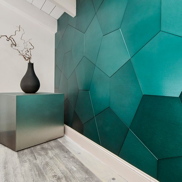 DVNE Aluminum Patterns Pentagono available at Ruben Sorhegui Tile Distributors Southwest Florida's largest tile, stone and mosaics distributor