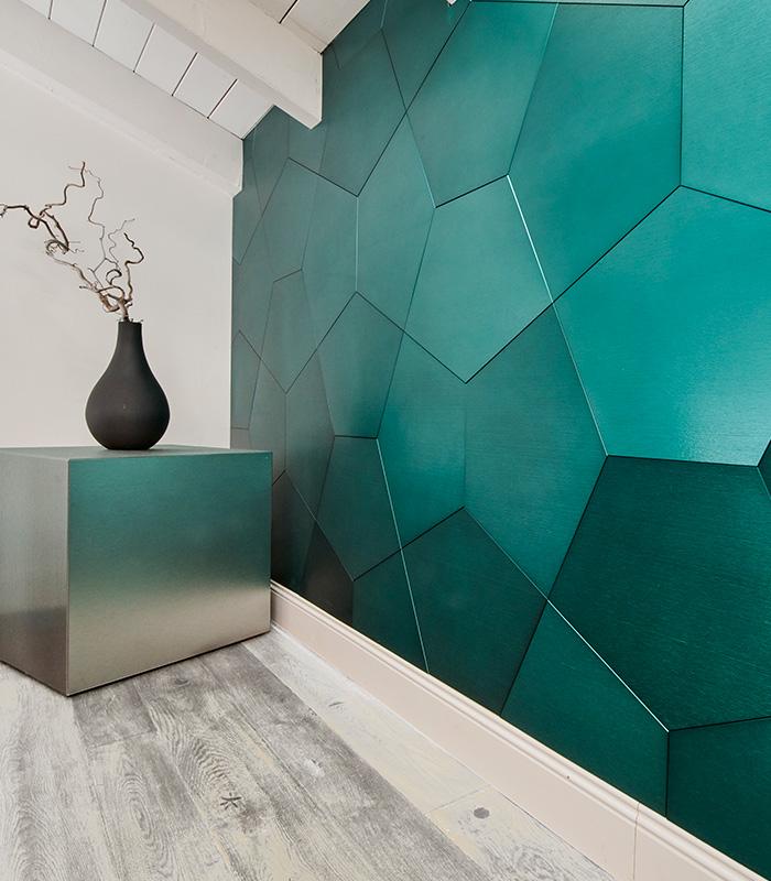 DVNE AluminumPatterns Pentagono available at Ruben Sorhegui Tile Distributors Southwest Florida's largest tile, stone and mosaics distributor