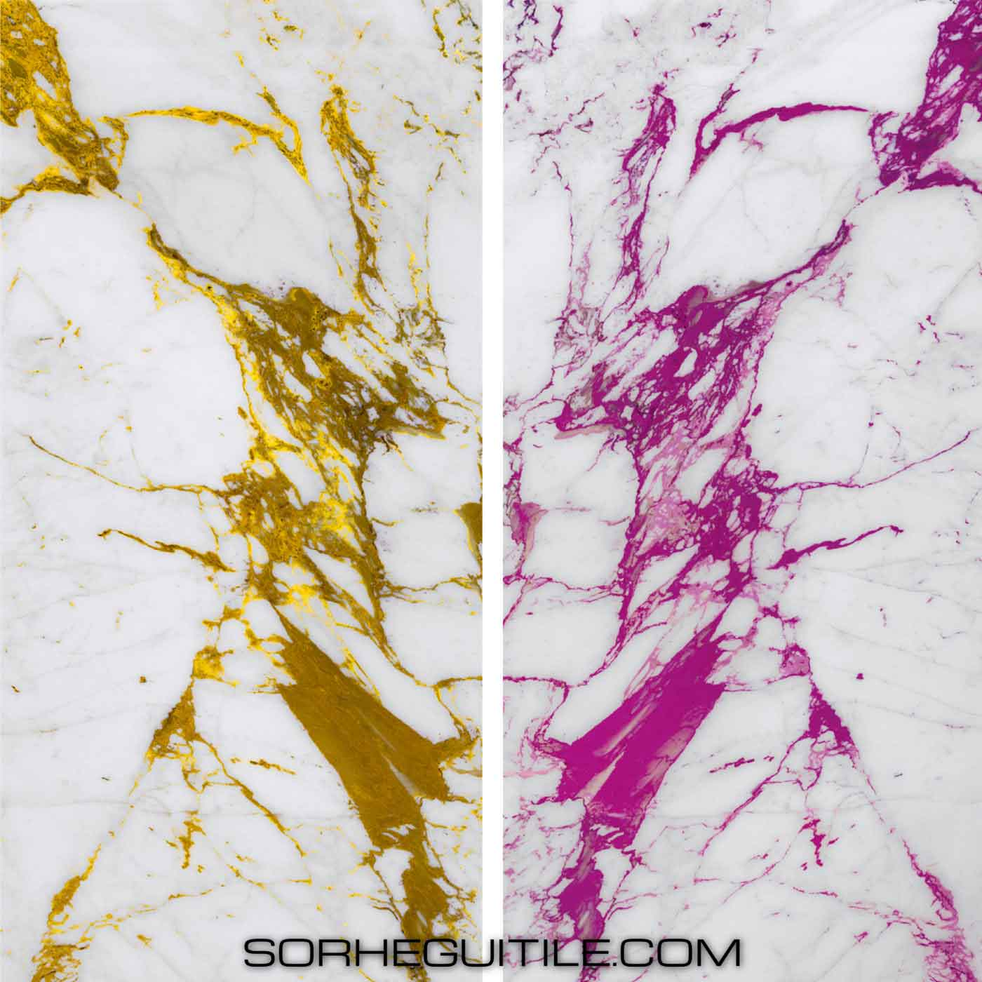 Examples of Vetrite by Sicis Electic Marble Collection available at Ruben Sorhegui Tile Distributors Southwest Florida's premier tile, stone and mixed mosaics distributor and tile showroom
