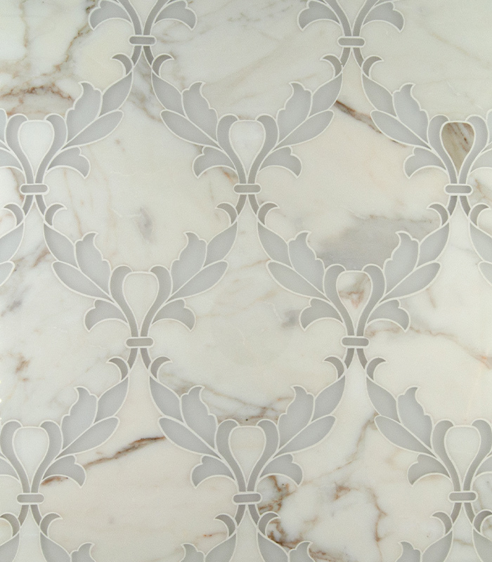 Fleur Waterjet Mosaic from Ruben Sorhegui Tile Distributors Southwest Florida's largest tile, stone and mosaics distributor