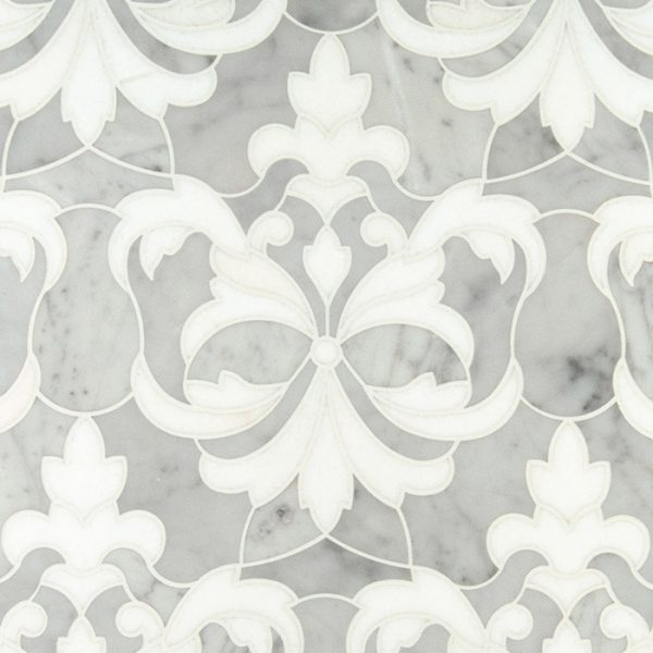 Flower & Leaf Waterjet Mosaic from Ruben Sorhegui Tile Distributors Southwest Florida's largest tile, stone and mosaics distributor