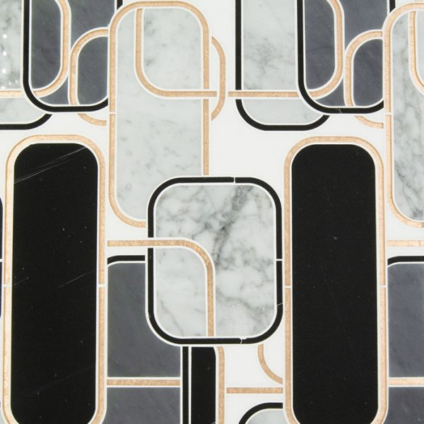 Golden Jungle | Waterjet Mosaics Products from Ruben Sorhegui Tile Distributors Southwest Florida's largest tile, stone and mosaics distributor