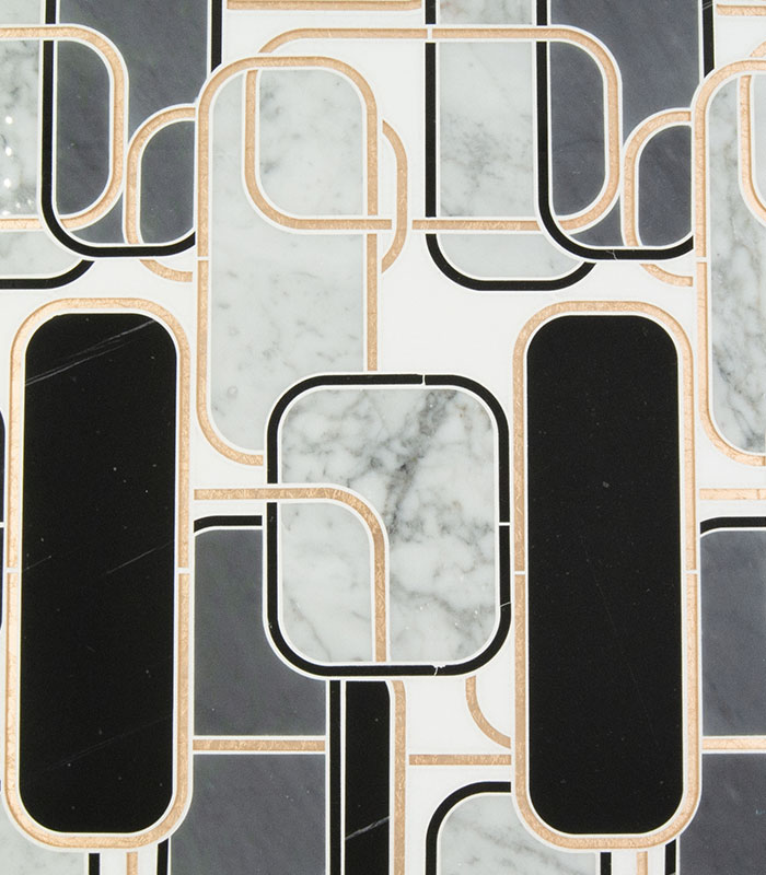 Golden Jungle | Waterjet Mosaics Products from Ruben Sorhegui Tile Distributors Southwest Florida's largest tile, stone and mosaics distributor