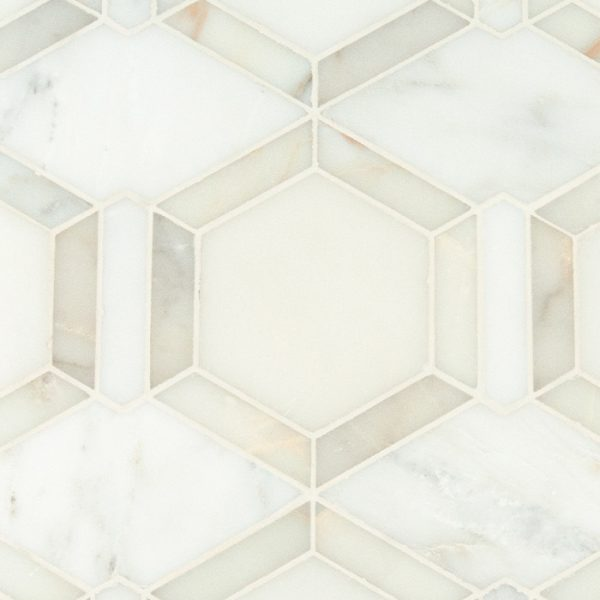 Metro Hex Waterjet Mosaic from Ruben Sorhegui Tile Distributors Southwest Florida's largest tile, stone and mosaics distributor