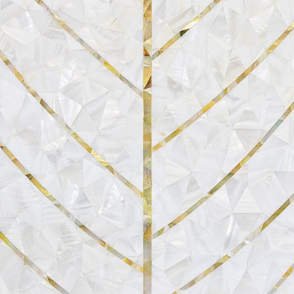 Natures Herringbone Mother of Pearl Mosaic