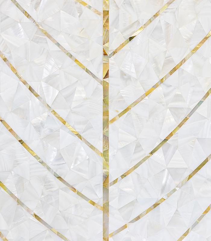 Natures Herringbone Mother of Pearl Mosaic