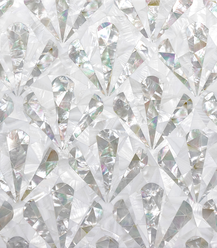 Seashell Mother of Pearl Mosaic
