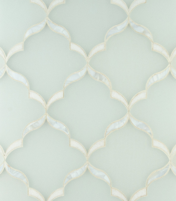 Sia Mother of Pearl Waterjet Mosaic from Ruben Sorhegui Tile Distributors Southwest Florida's largest tile, stone and mosaics distributor