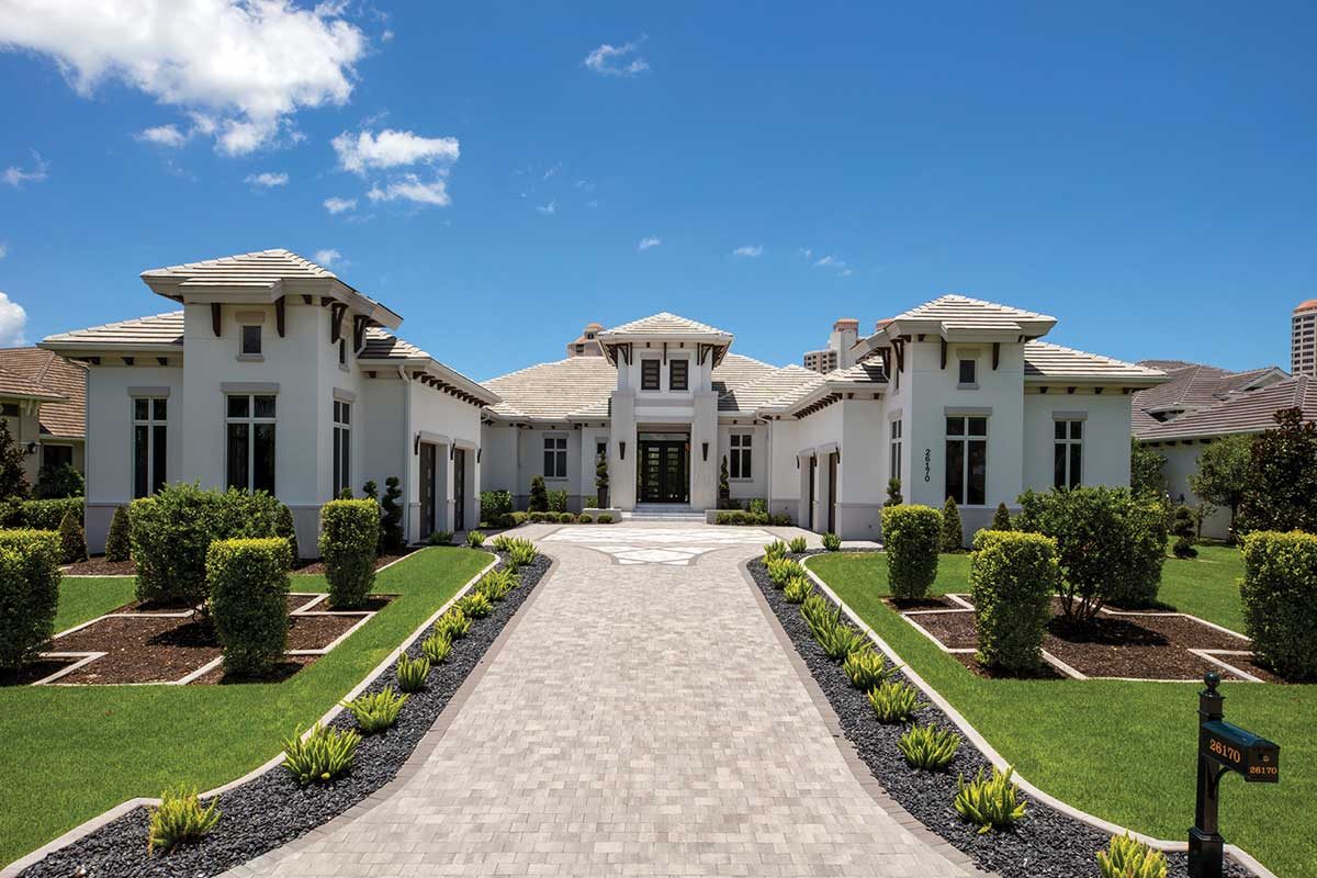 Southwest Florida home with stone pavers from Ruben Sorhegui Tile Distributors | Southwest Florida Tile, Stone and Mosaic Distributor