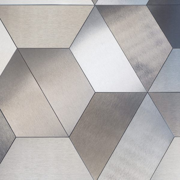 DVNE Aluminum Patterns Trapezio available at Ruben Sorhegui Tile Distributors Southwest Florida's largest tile, stone and mosaics distributor