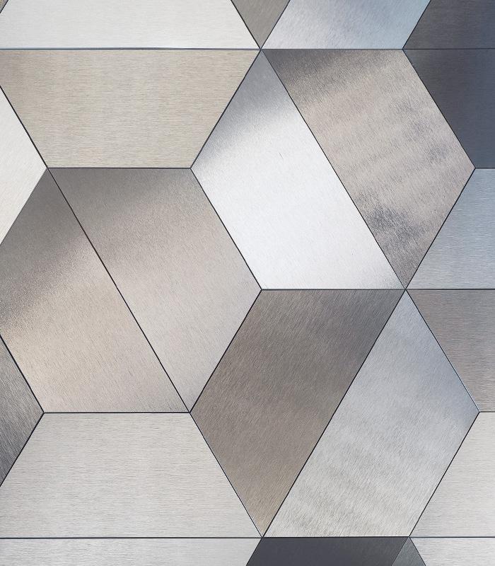 DVNE AluminumPatterns Trapezio available at Ruben Sorhegui Tile Distributors Southwest Florida's largest tile, stone and mosaics distributor